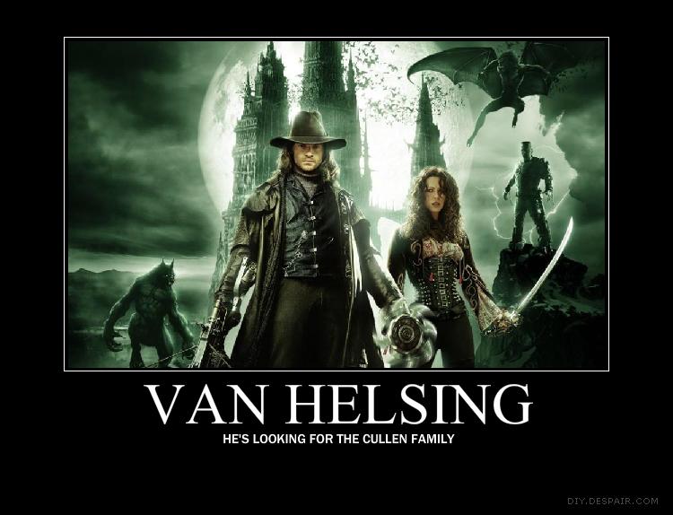 Van Helsing Demotivational By Jswv On Deviantart