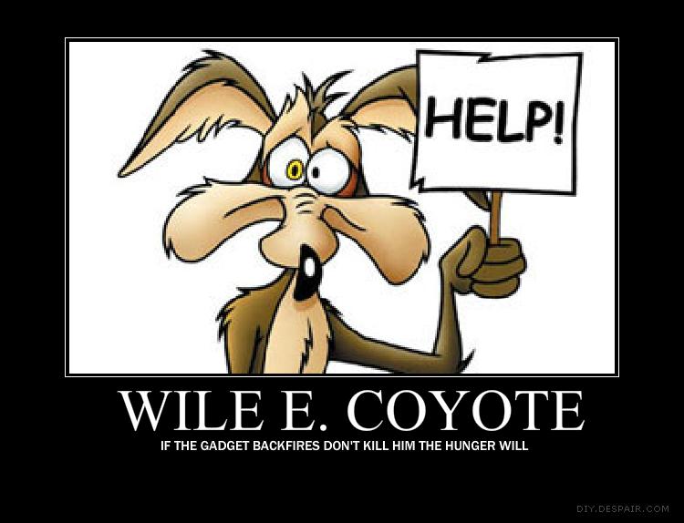 Wile E. Coyote motivational