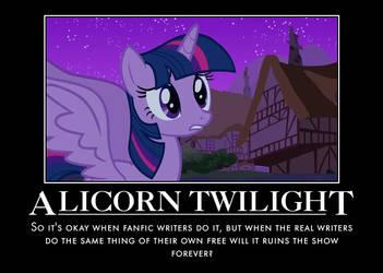 Alicorn Twilight Demotivational by jswv