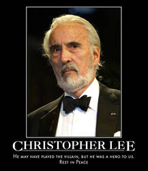 Rest in Peace Christopher Lee