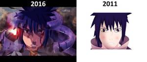 Sasuke uchiha The difference between 2011 and 2016