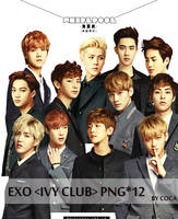 EXO IVY CLUB  RENDER PNG PACK 12P by coca_ by tauotauomaker