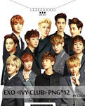 EXO IVY CLUB  RENDER PNG PACK 12P by coca_