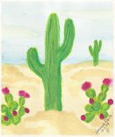 Desert Cactus by streboradnama