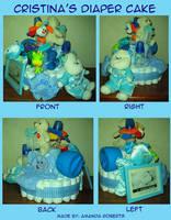 Cristina's diaper cake by streboradnama