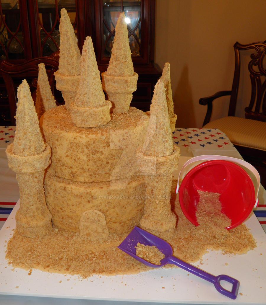 Sandcastle Cake 1 by streboradnama on DeviantArt