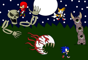 Team Sonic Vs Terraria Bosses
