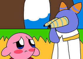 Hyness Stare At Kirby by richsquid1996