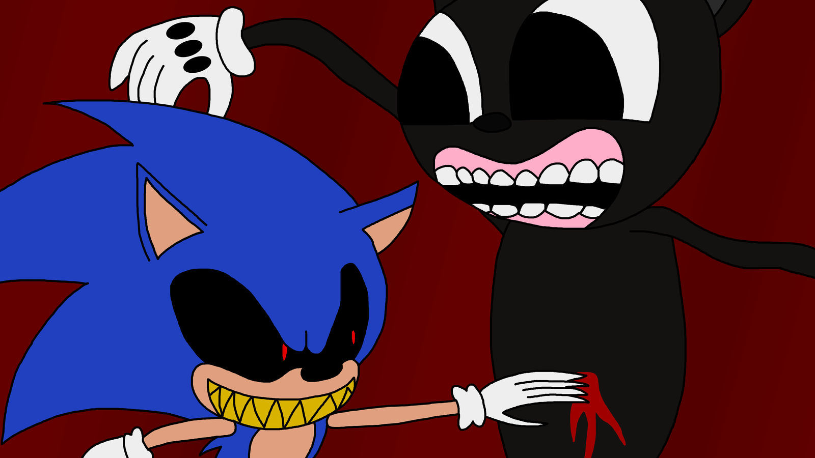 Sonic Exe Vs Cartoon Cat By Richsquid1996 On Deviantart