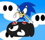 Sonic Riding A Bullet Bill