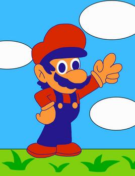 Mario In Super Mario Bros 2 Nes Style