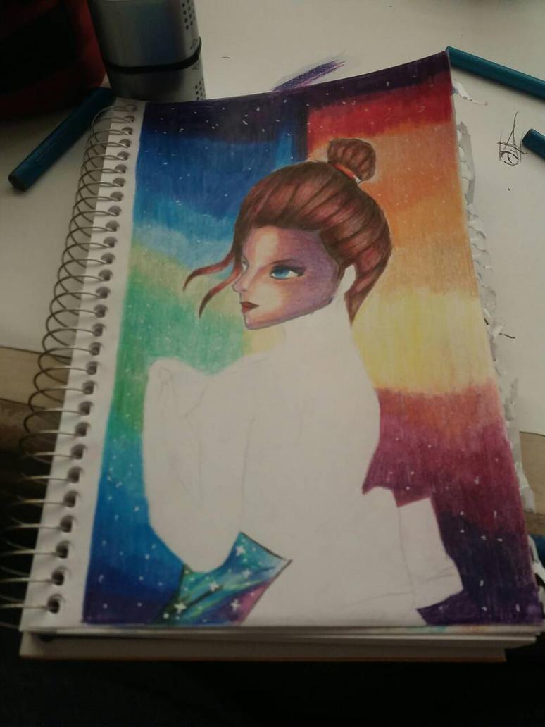 galaxy drawing by Artofsupernova