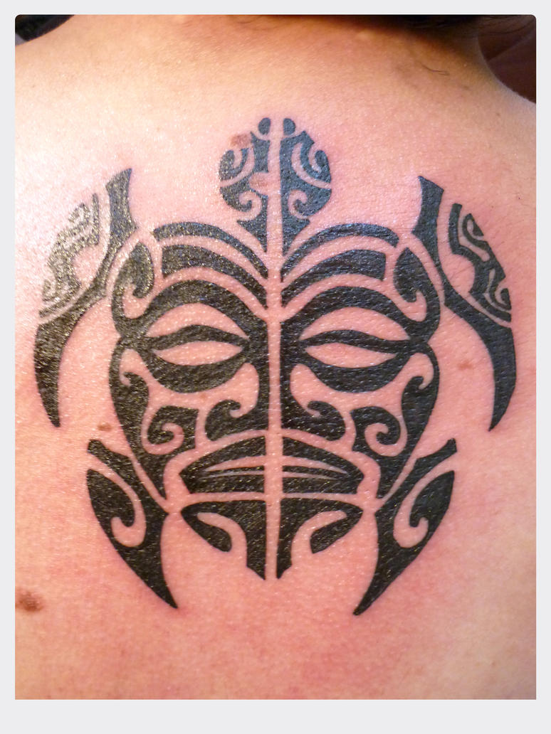 maori turtle tattoo by