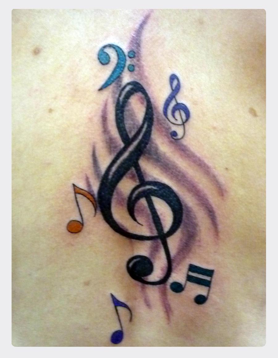 music tattoo by jotatr3s on deviantart. Black Bedroom Furniture Sets. Home Design Ideas