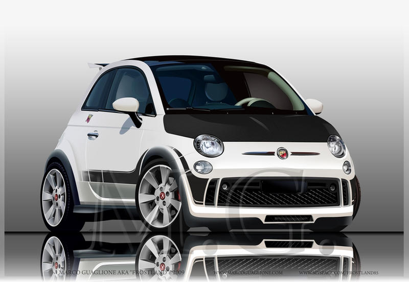 fiat 500 abarth tuning by marcoguaglione on deviantart. Black Bedroom Furniture Sets. Home Design Ideas