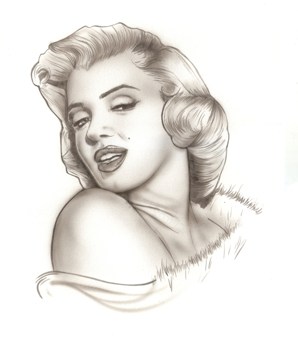 Marilyn Airbrush Exercise by MarcoGuaglione