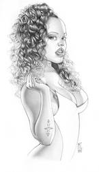 Lacey Duvalle Pencil by MarcoGuaglione