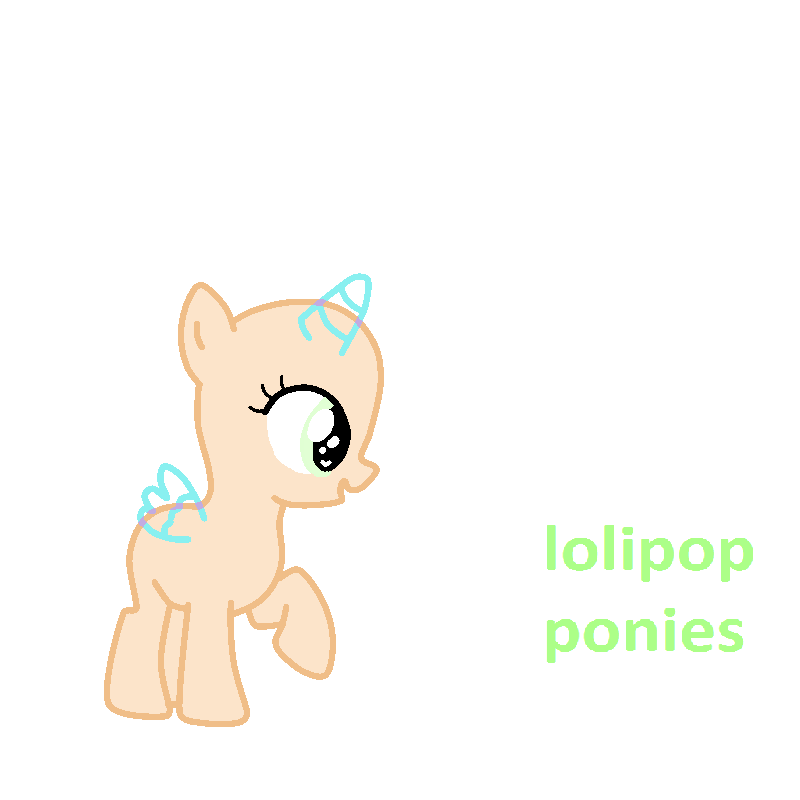 Mlp Pony Base Filly by Avril012