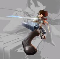Mikasa Ackerman by TheOrckid