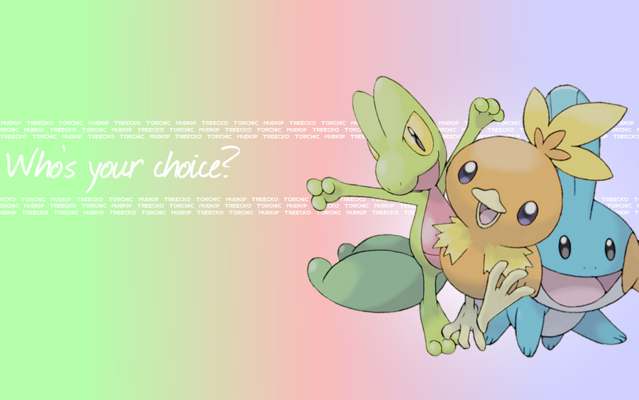 Pokemon - Hoenn - Starters Wallpaper by Ekumimi on DeviantArt