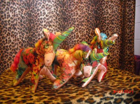Colorful Floral Unicorns