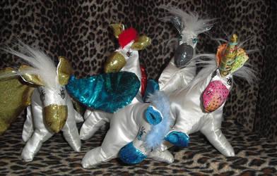 Four Pegasus and a Satin Unicorn!