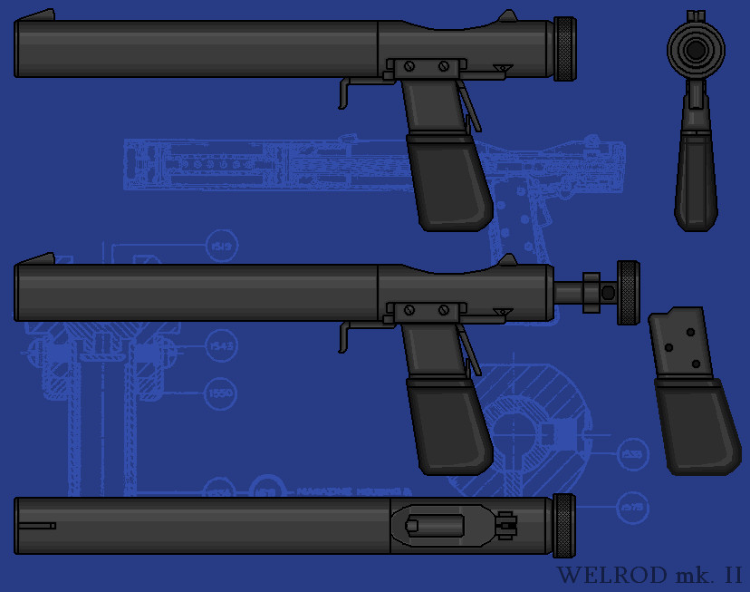 Welrod mk. 2 Silent Pistol by linseed