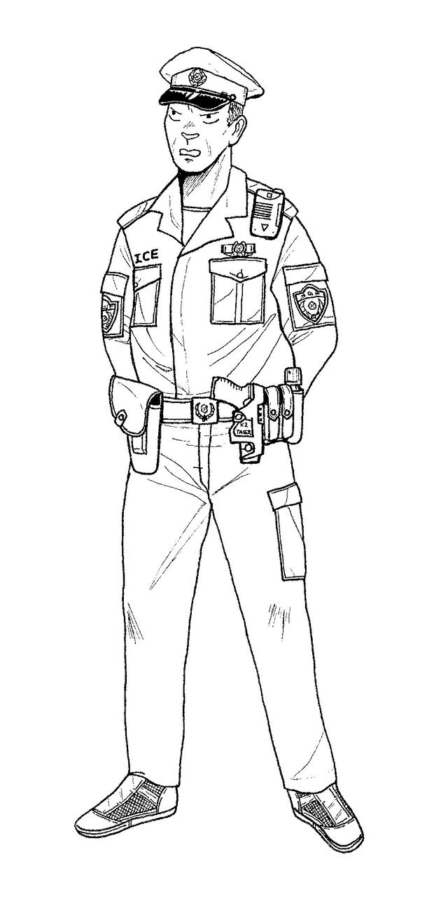 Police Patrolman Gits By Linseed On Deviantart