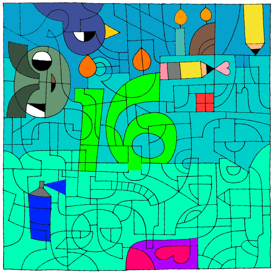 Nice ... 16th Birthday Coloring Page By Energythespriter . Happy ...