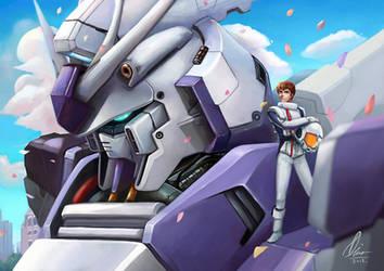 Hi-v Gundam by Aulysh
