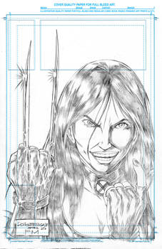 OVERLY ATTACHED X23 TRIBUTE TO FRANK MILLER pencil