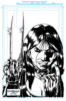 OVERLY ATTACHED X23 TRIBUTE TO FRANK MILLER inks