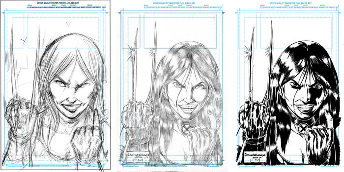 OVERLY ATTACHED X23 TRIBUTE TO FRANK MILLER proces