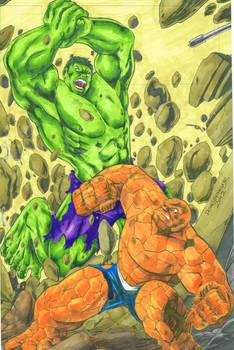 hulk vs thing (kurecolor)
