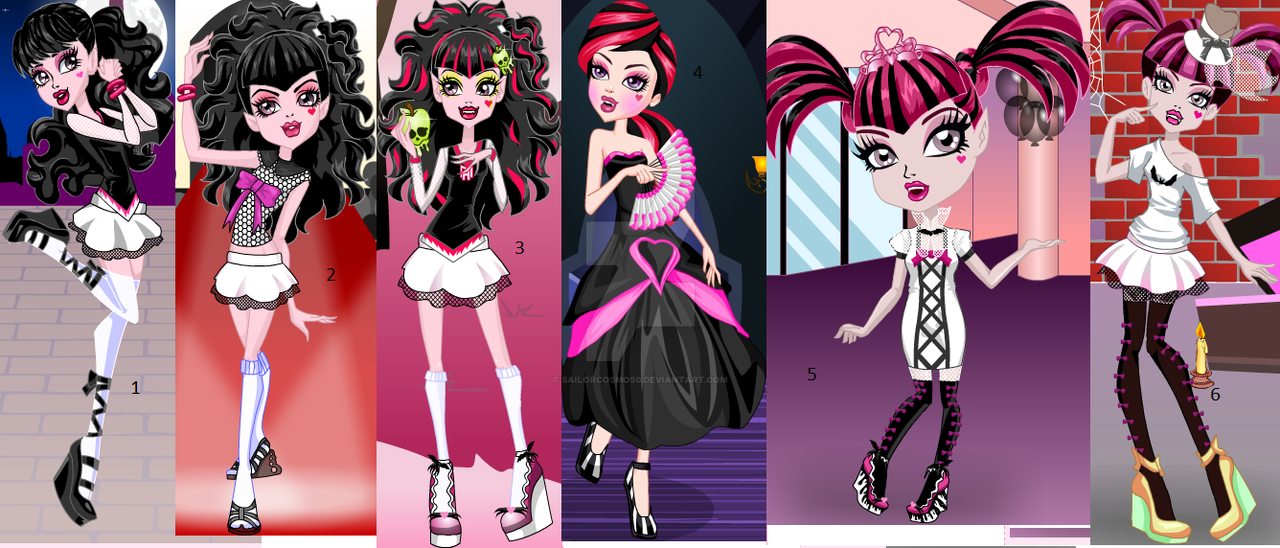 Monster High Black And White Draculaura By Sailorcosmos0 On Deviantart