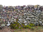 Stone Wall cut out, png Stock
