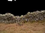 Stone Wall cutout, png Stock 2