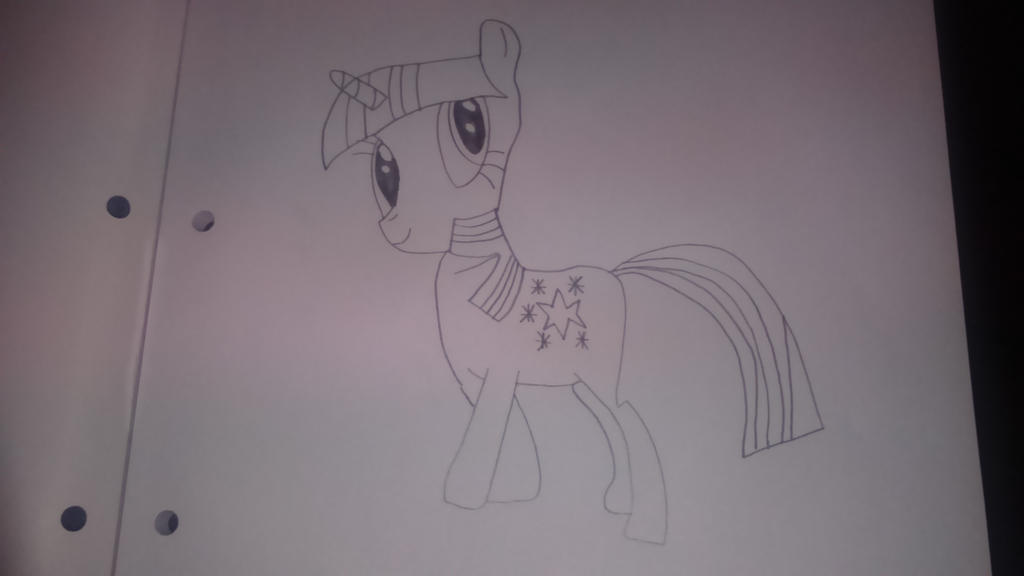 Book Horse Drawing by AnonymousRainboom