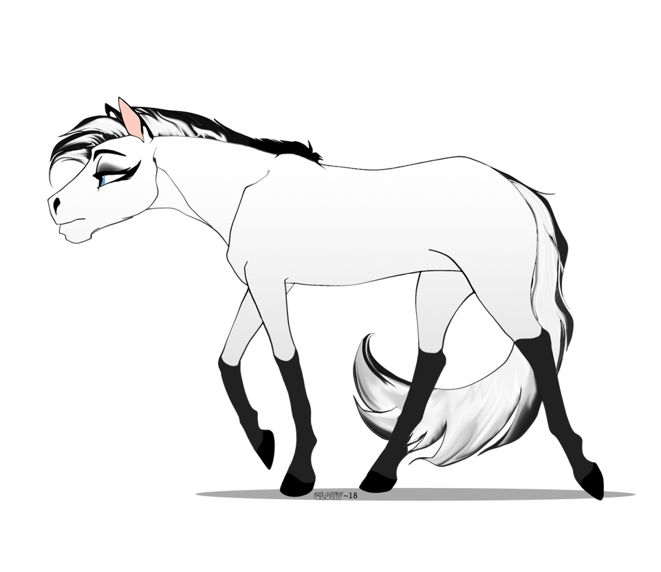 Horse Sketch By Glory 18 On Deviantart