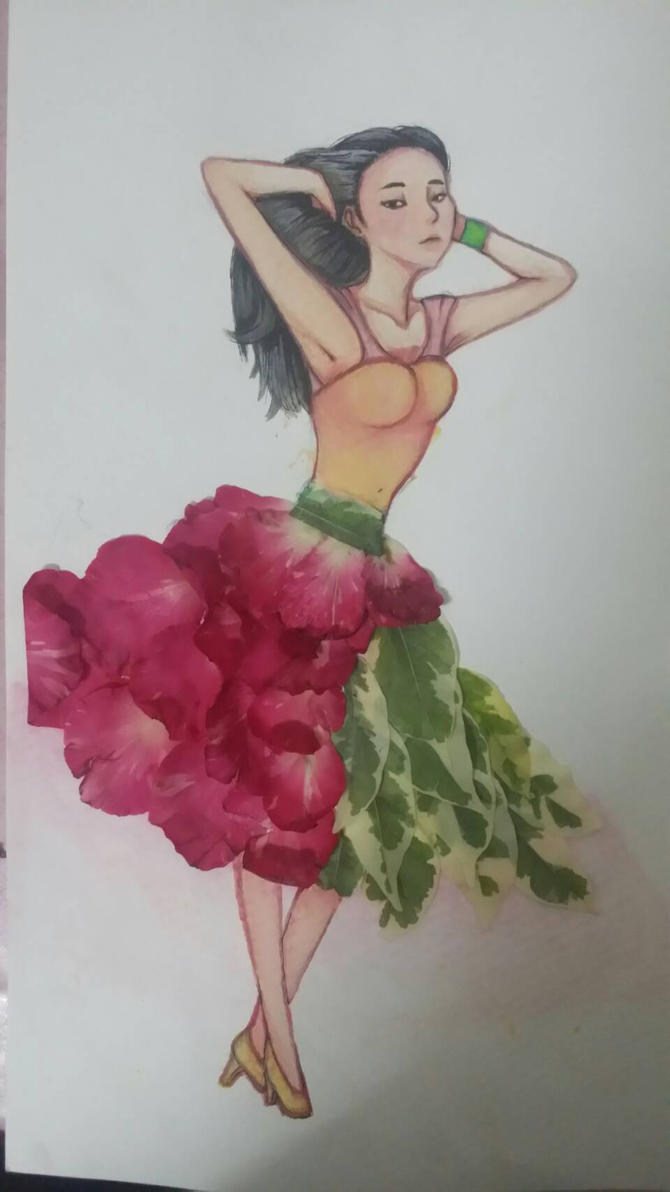 With the flowers dress. by BTDN45