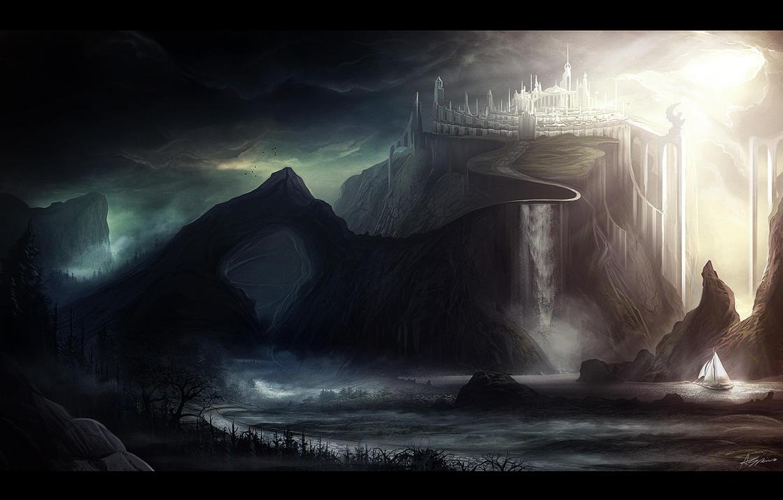 Fantasy Landscape by nilTrace