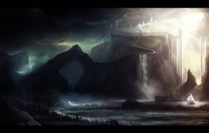Fantasy Landscape by AlynSpiller