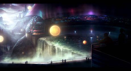 City Falls by AlynSpiller