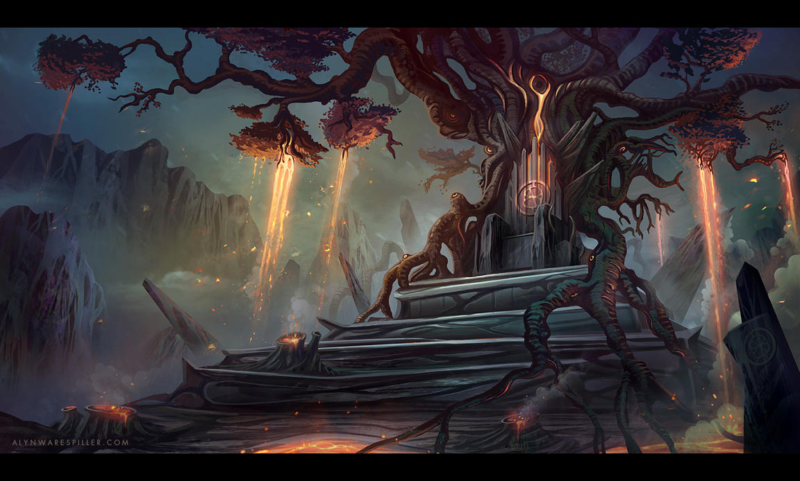 Lava Tree Throne by nilTrace