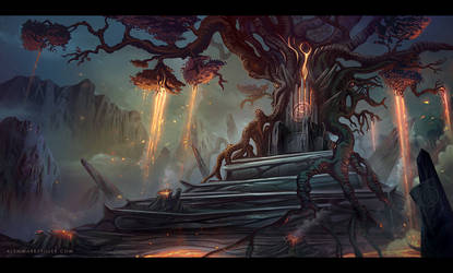 Lava Tree Throne by AlynSpiller