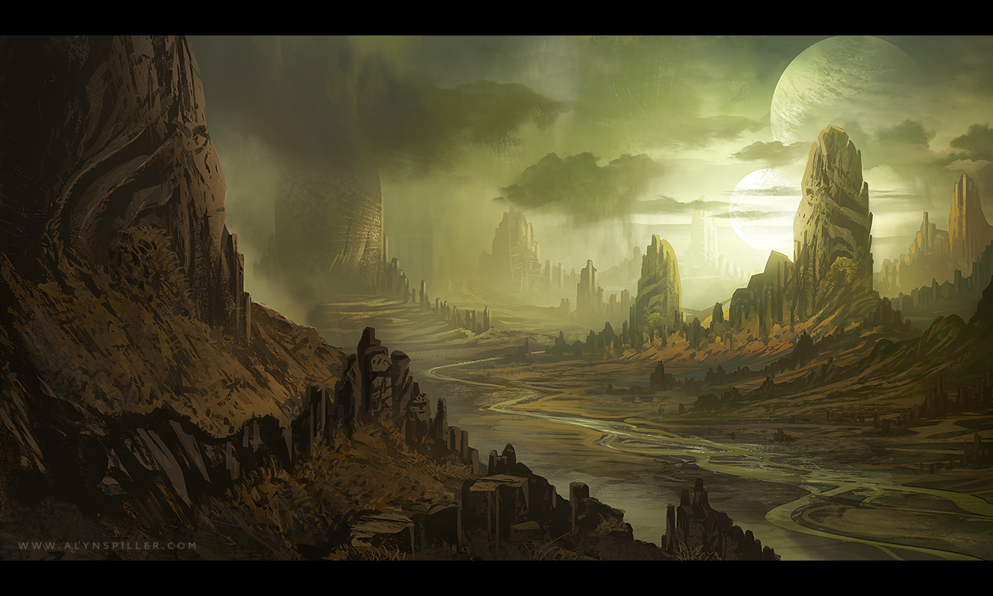 Alien Landscape by AlynSpiller on DeviantArt