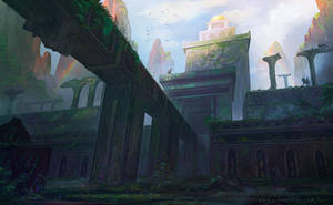 Temple Ruins by AlynSpiller