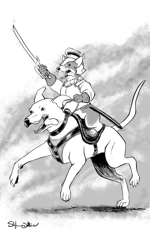 Corgi Mounted Cavalry by Jadiekins