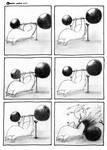 Oswald Works Out by HulkYoda