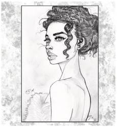 Draya Michele Pencil Sketch